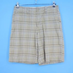 Urban Pipeline Up Plaid Cotton Casual Shorts (M8)